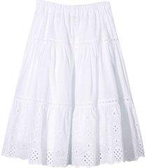 alberta ferretti white skirt