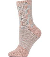 cable twist sweater knit women's crew socks