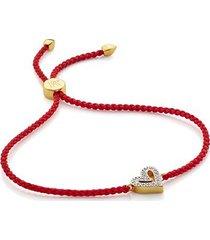 gold alphabet heart diamond friendship bracelet - limited edition diamond