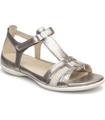 flash shoes summer shoes flat sandals grå ecco