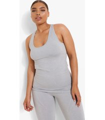 plus naadloos dorrigerend hemd, grey