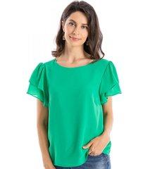 blusa básica vuelos verde nicopoly