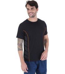 camiseta oxer shark - masculina - preto/laranja