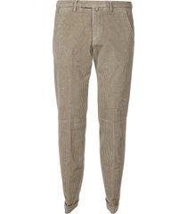 briglia 1949 plain cropped corduroy trousers