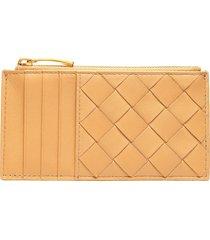 intrecciato nappa leather card case