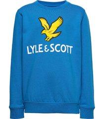 lyle eagle logo lb crew sweat navy blazer sweat-shirt tröja blå lyle & scott junior