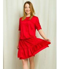 sukienka czerwona wiskozowa