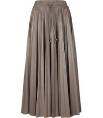 msgm drawstring waist pleated skirt