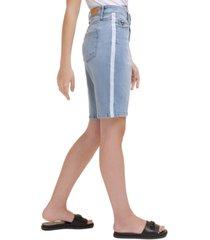 karl lagerfeld logo tape bermuda shorts