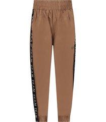 molo brown boy pants with black stripes