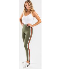 hanlee racer-stripe leggings - olive