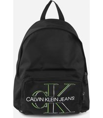 calvin klein jeans backpack with contrasting logo