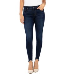 women's kut from the kloth donna curved hem ankle skinny jeans