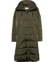 coat not wool gevoerde lange jas groen gerry weber edition