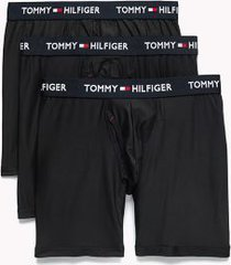 tommy hilfiger men's everyday microfiber boxer brief 3pk black - s