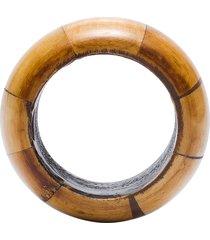 argola guardanapo round wood - bege