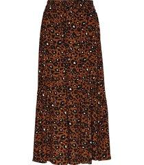 leona maxi skirt lång kjol brun just female