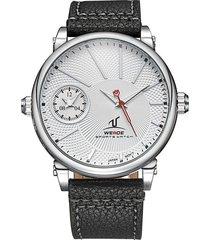 reloj weide 1508-2c acero inoxidable white diseño militar