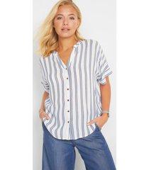gestreepte blouse, korte mouw