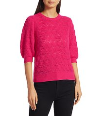 wool & cashmere puff sleeve sweater