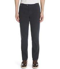 men's eleventy slim fit chino pants, size 38 - blue