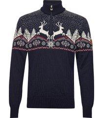 dale christmas masc sweater knitwear turtlenecks blå dale of norway