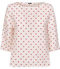 a punto b polka dot blouse