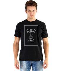 camiseta ouroboros manga curta quero café