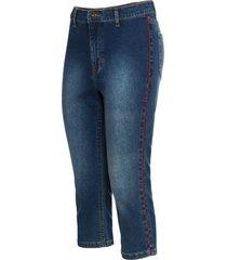 jeans capri con bande rosse (blu) - rainbow