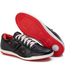 sapatênis couro tchwm shoes confortavel macio masculino - masculino