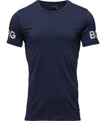 tee borg 1p t-shirts short-sleeved blå björn borg