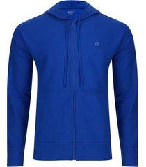buzo hoodie deportivo azul color azul, talla xs