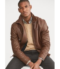 polo ralph lauren men's leather jacket