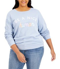 love tribe trendy plus size nice human-graphic sweatshirt