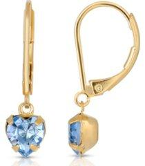 2028 14k gold-dipped petite heart drop earrings