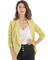 blazer mangas recogidas amarillo nicopoly