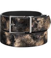 inc men's metallic belt, created for macy's