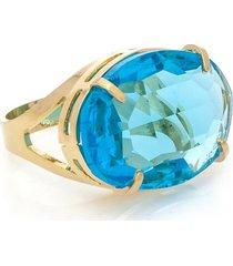 anel cristallo cristal oval