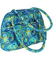 bolsa handbag ana viegas tecido ombro zíper espaçosa feminina