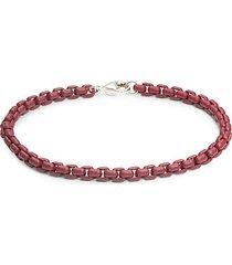 sterling silver & beaded link bracelet