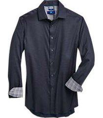 egara raspberry & navy slim fit sport shirt