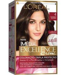 coloração imédia excellence l'oréal paris 4 castanho natural