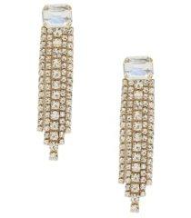 ettika formal crystal fringe drop earrings