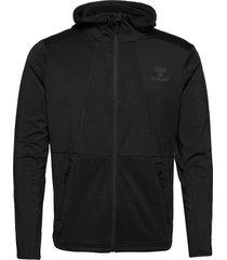 hmlaston zip hoodie hoodie trui zwart hummel