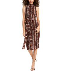 rachel rachel roy snake-embossed midi dress