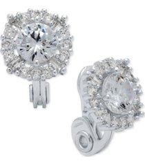 anne klein crystal stud e-z comfort clip-on earrings