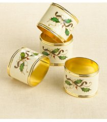 lenox holiday nouveau napkin ring set