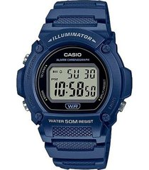 reloj azul casio w219h-2avdf - superbrands