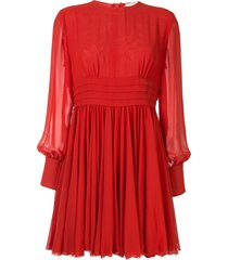 karen walker scarlet chiffon skating dress - orange