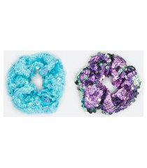 kit 2 scrunchies infantil com paetê - tam u | accessories | multicores | u